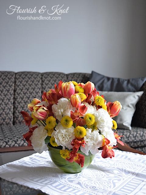 Pretty DIY spring arrangement