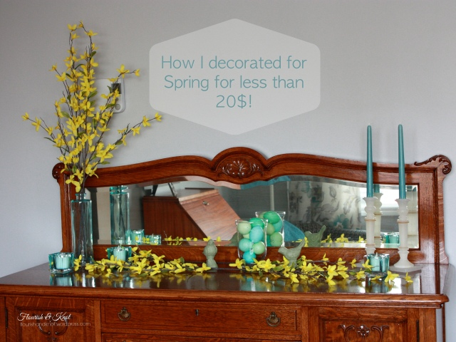 How I decorated for Spring for less than $20 | Flourish & Knot