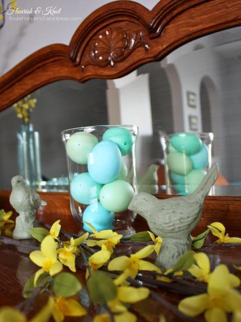Pretty spring buffet decor | Flourish & Knot
