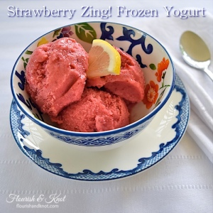Strawberry Zing! Frozen Yogurt