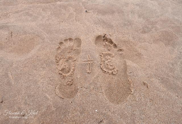 S+E Footprint in the Sand at Cavendish Beach, PEI