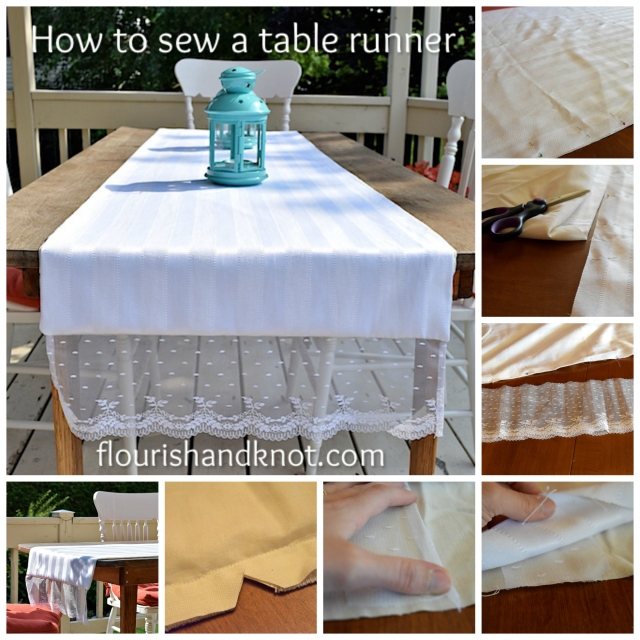 How to sew a simple table runner | flourishandknot.com