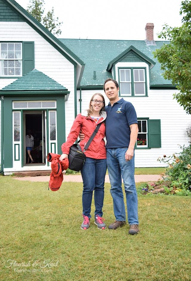 Sarah and Erick visiting Green Gables Heritage Place on Prince Edward Island