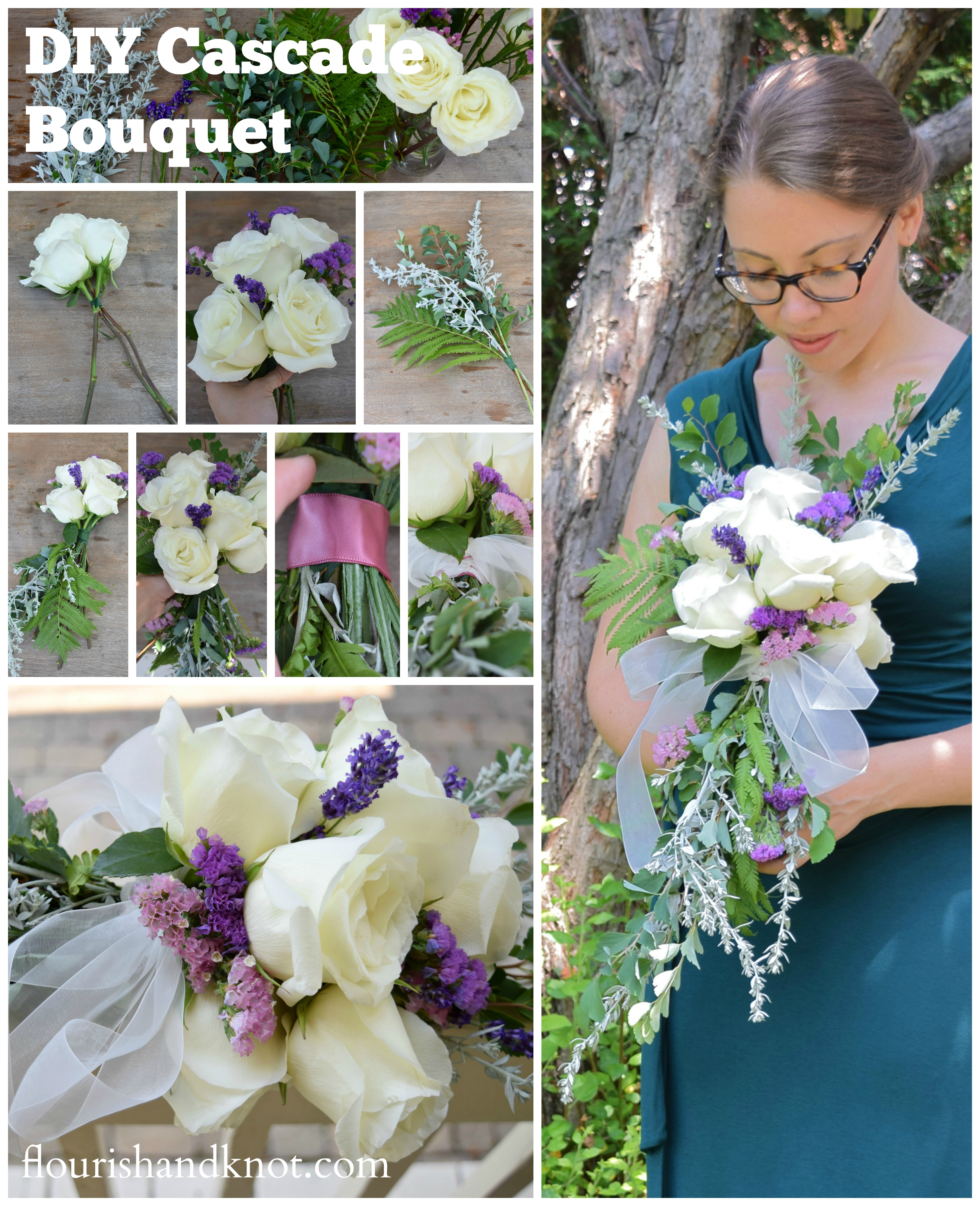 Diy Bridal Bouquet: How To Create A Cascade Bouquet