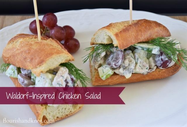 A Waldorf-inspired chicken salad sandwich   by flourishandknot.com