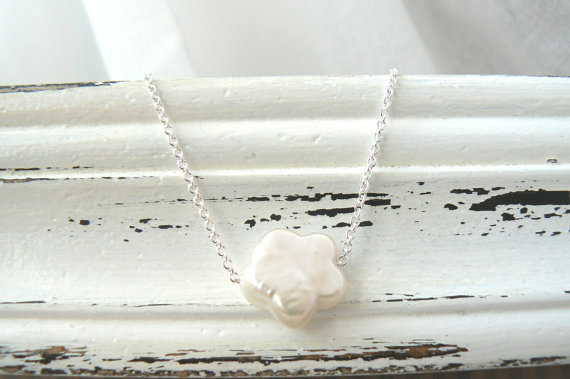 Flower Pearl Necklace from Virginie Martin Studios