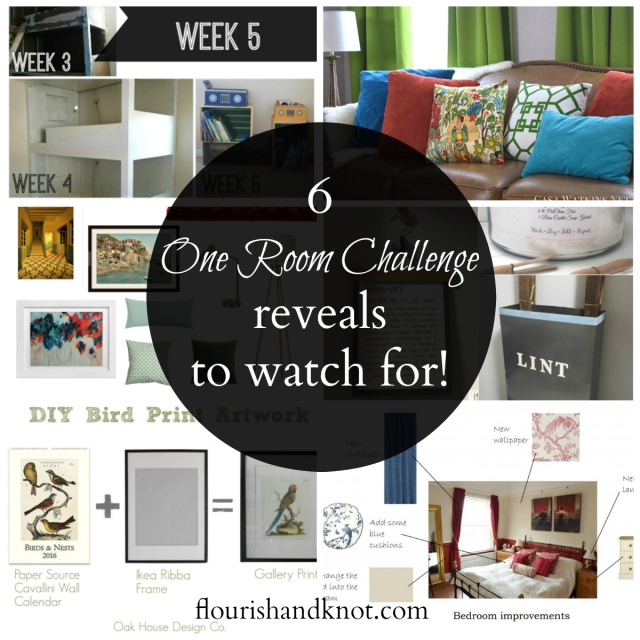 6 #OneRoomChallenge makeover reveals I'm watching for! | flourishandknot.com