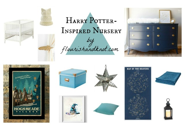 Our Harry Potter-inspired nursery plans for the #OneRoomChallenge | flourishandknot.com